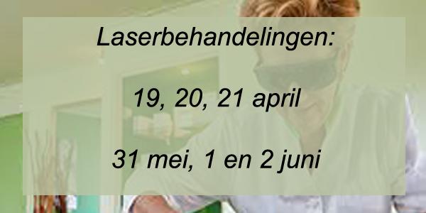 Laserbehandelingen voorjaar en zomer